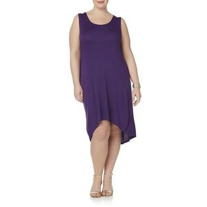 Simply Emma Women's Plus Purple Tank Dress